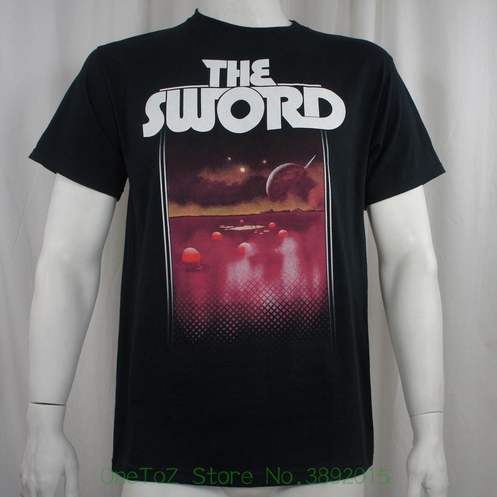 New Fashion Men's T-shirt Authentic The Sword Band Acheron Logo T-shirt S M  L Xl 2xl New