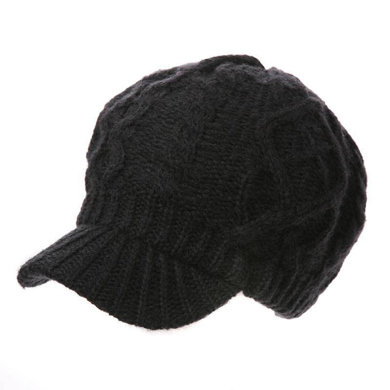 46310955715 2019 Siggi Women Wool Knitted Cabbie Duckbill Newsboy Cap Gatsby Autumn  Winter Hat With Visor For Lady From Duodeis