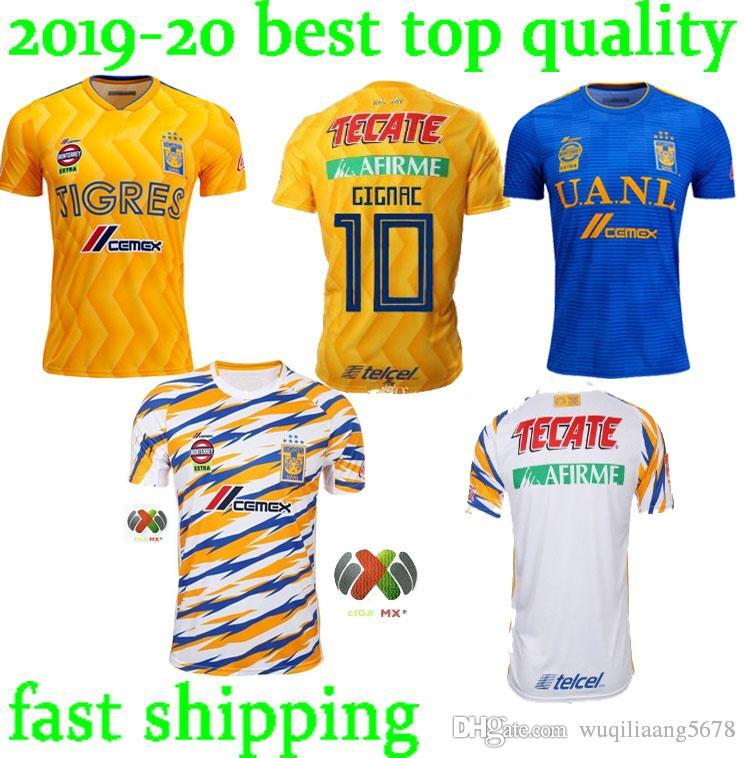 aa249c91ded 2019 2018 2019 Tigres UANL Soccer Jerseys Best Quality Men Kit 18 19 Mexico  Club Maillot De Foot Home Away 3rd 6 Star GIGNAC Football Shirts From ...