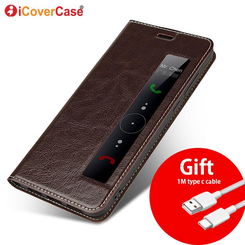 best service f4c47 6d1f5 Genuine Leather Case For huawei P20 Pro cover Magnetic case For Huawei P20  Pro Flip Cases leather cover P20 Phone cases Fundas