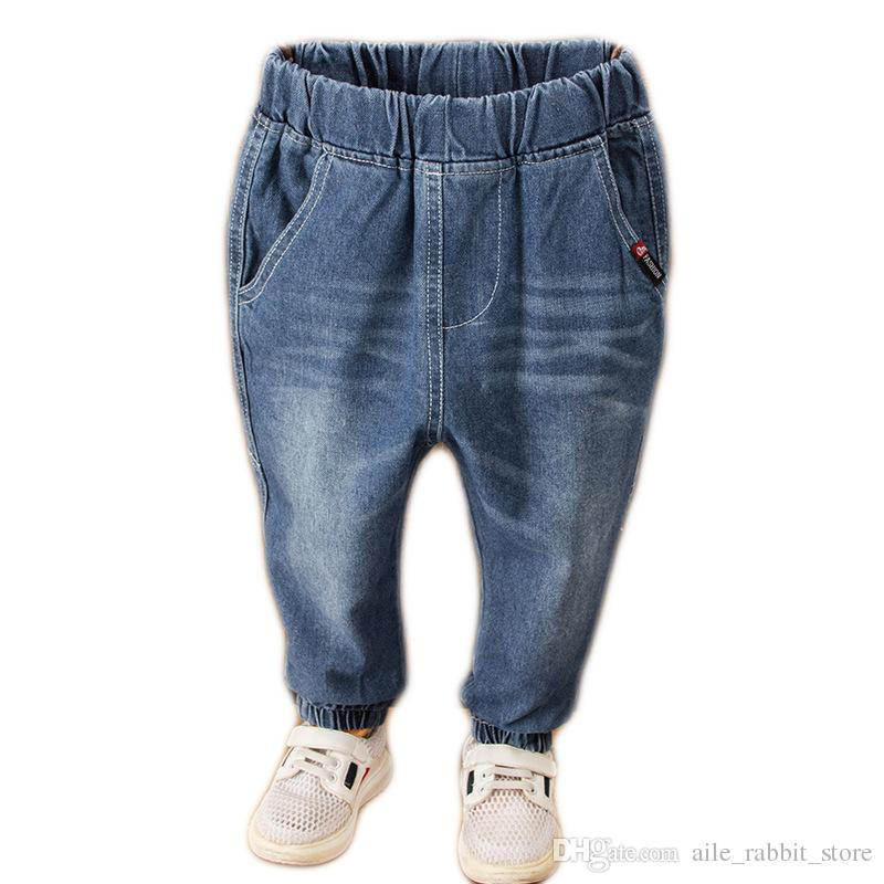 7a5c54501 Fashion New Boys Blue Jeans Baby Boy Solid Long Denim Pants Kids Cotton  Trousers Tops On Jeans For Girls Boys Size 8 Jeans From Aile_rabbit_store,  ...