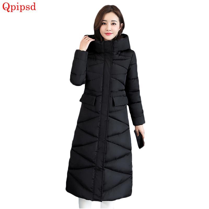 8dd56c054c2 2019 Women Down Jacket 2018 Winter Jacket Women Hooded Collar Thicken Warm  Long Jacket Female Loose Outerwear Parka Chaqueta Feminino From Weiyongqin,  ...