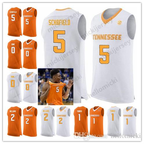 a9f63ee8a45 2019 Tennessee Volunteers 5 Admiral Schofield 2 Grant Williams 1 Lamonte  Turner 35 Yves Pons College Basketball Orange White Stitched Jerseys From  ...