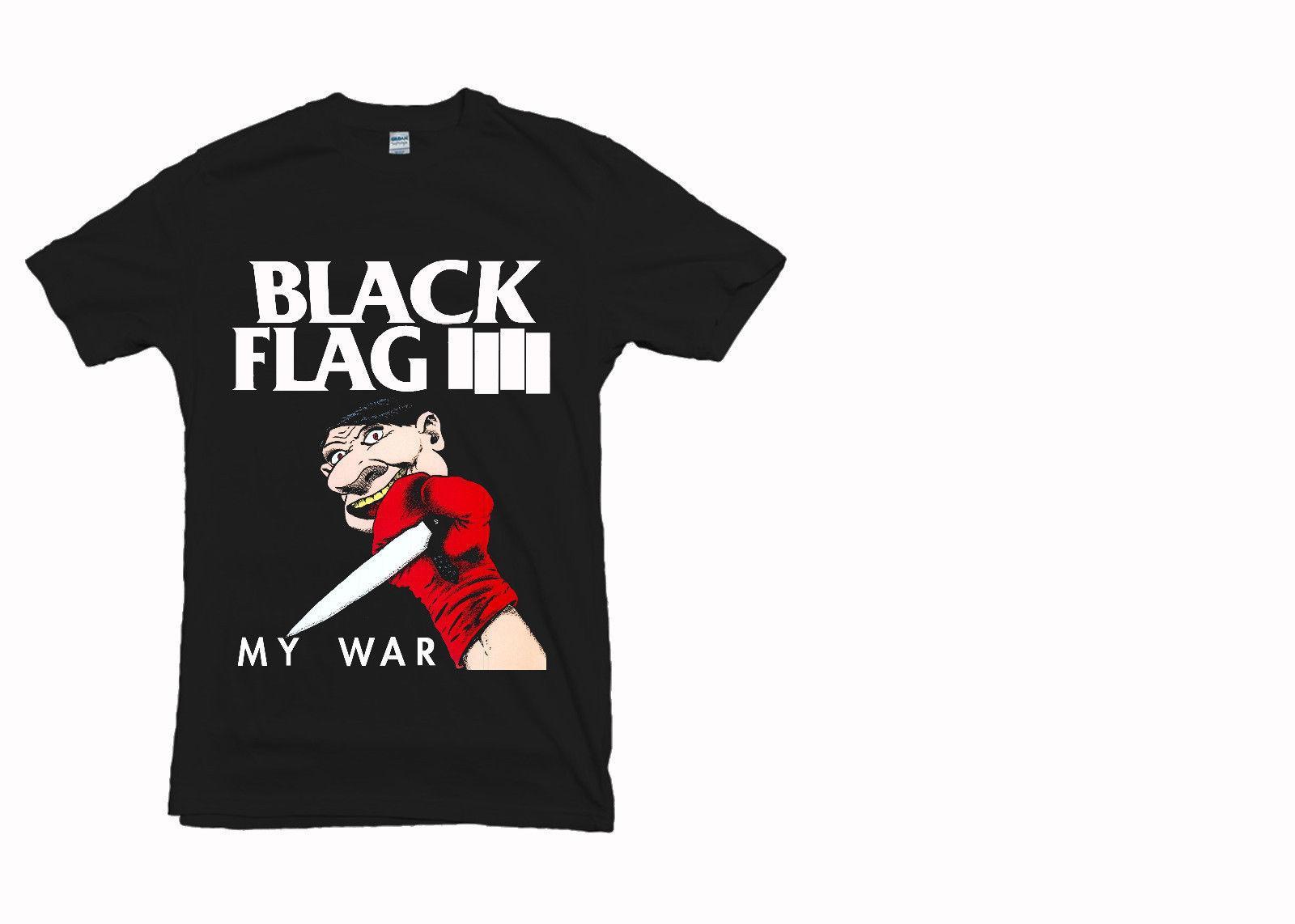d36f5a9a T Shirt Black Flag Band Series My War Gildan Men'S Clothing Black Size S  2XL But T Shirts T Shirts Funky From Designtshirts201806, $10.66  DHgate.Com