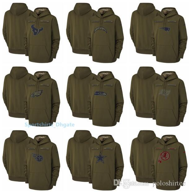 premium selection 284b6 a7729 Men Seattle Seahawks Dallas Cowboys Buccaneers Titans Washington Redskins  Salute to Service Sideline Therma Performance Pullover Hoodies