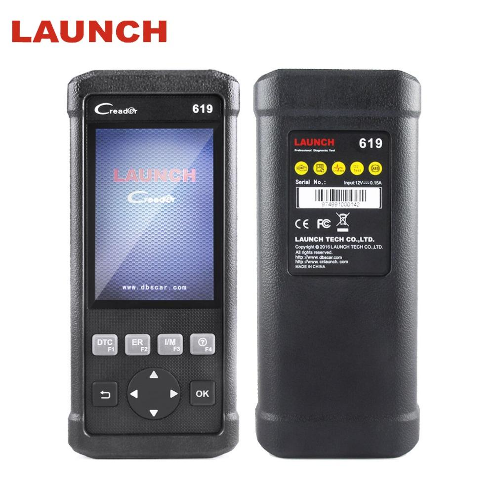 LAUNCH Automotive Scanner OBD II ABS/SRS/Airbag/Engine Diagnostic Tool CR619 OBD 2 Auto Scanner Car Diagnostic Airbag Scan Tool