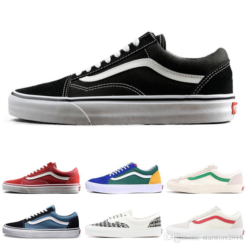 f4f9b4042f 2019 YACHT CLUB Vans Old Skool FEAR OF GOD Black White MARSHMALLOW Green 36  DX PRIMAR Men Women Sneakers Fashion Skate Casual Shoes From Starstore2018