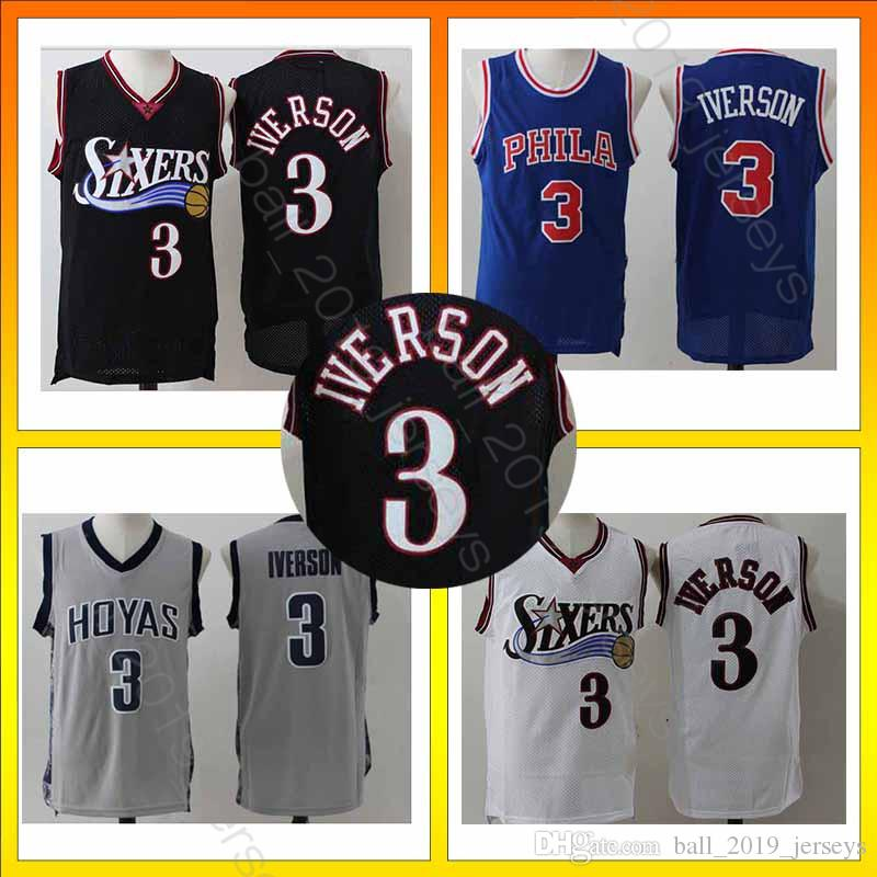 the best attitude 931a6 b05f3 Philadelphia 3 Iverson 76ers jersey 6 Erving Retro version all jerseys 2019  star men basketball jerseys