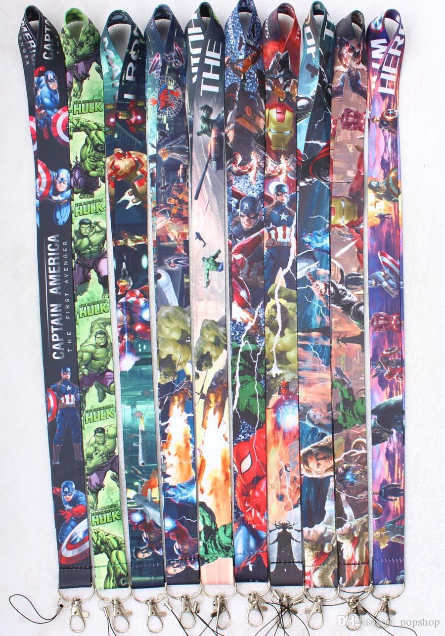 Avengers Infinity War Iron Spider HULK THOR Neck Lanyard Clip ID Badge Cell  Phone Key Chain Straps