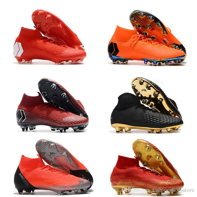 022260ee656 Superfly VI Neymar FG Mens Soccer Shoes Hot Sale Boots Superfly VI Elite  CR7 FG SG AC Football Boots Magista Obra II Soccer Cleats Winter Shoes Low  Boots ...