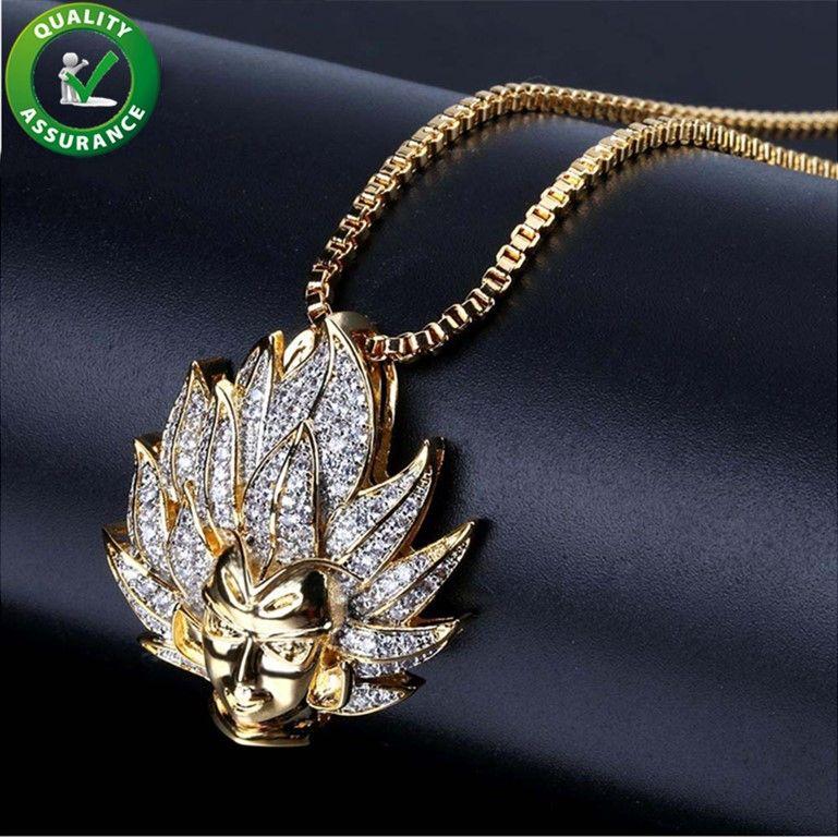 d8a2b46e2be3 Cadenas de helado Colgante Collar de diseñador Joyas de oro y hip hop para  hombre Cadena del rapero de diamantes de lujo Estilo de Pandora Encantos  Rock ...