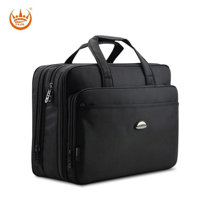 17 Inches Men's Briefcase High Density Oxford Waterproof Laptop Computer Bag Large Capacity Business Men's Handbags Y190627