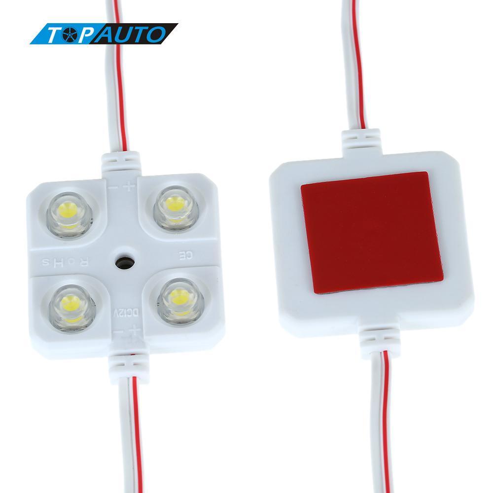10x4 LED 자동차 인테리어 조명 12V 램프 RV 반 보트 트레일러에 대한 지붕 라이트 키트 내부 방수 밝은 흰색 자동차 스타일링