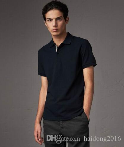 새로운 도착 남성 런던 클래식 T 셔츠 영국의 디자이너 GB 캐주얼 폴로면 짧은 소매 캐주얼 의류 유니폼 말 자수 티셔츠