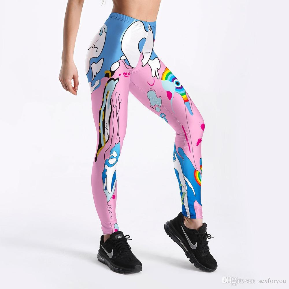 a5a027ba307d2 2019 Frozen Ice Land Printed Leggings For Women Christmas Arrival Cute 3D  Digital Pattern Leggings Casual Workout Leggings From Sexforyou, $9.55 |  DHgate.