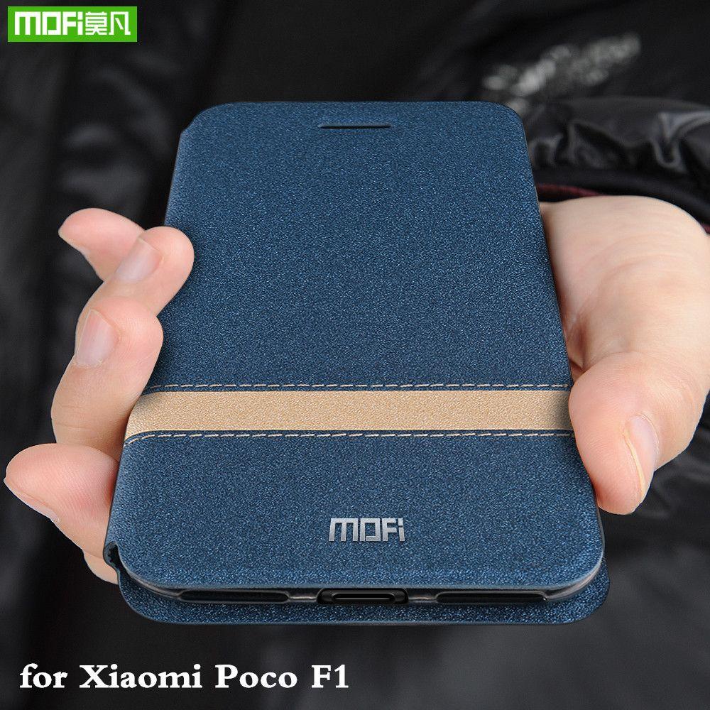 newest 026f3 73eb0 wholesale Flip Cover for Xiaomi Pocophone F1 Case for POCO F1 TPU Coque for  Xiomi Mi Global Silicone Housing Folio Capa
