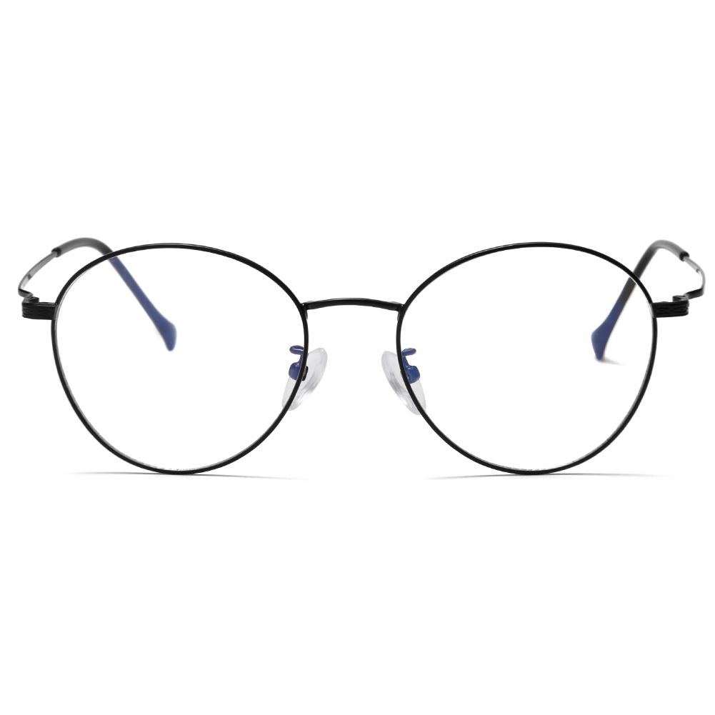 a4db41af39 2019 Retro Computer Glasses Frames Thin Gold Frame Anti Blue Ray Eyeglasses  Round Vintage Optical Myopia Eyewear Frame For Women Men From Taihangshan