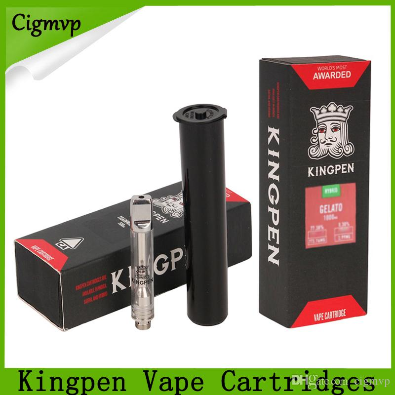 2019 Newest Red Flavors Stickers Kingpen Cartridges 0.5 1.0ml Dual Cotton Ceramic Coil 510 Thread Vape Cartridges Packaging With 12 Flavors
