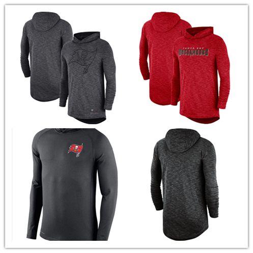 2018 Men S Sportswear Tampa Bay Buccaneers Heathered Charcoal Fan Gear  Tonal Slub Hooded Long Sleeve T Shirt Football Jersey From Sosofa 8af34ec81