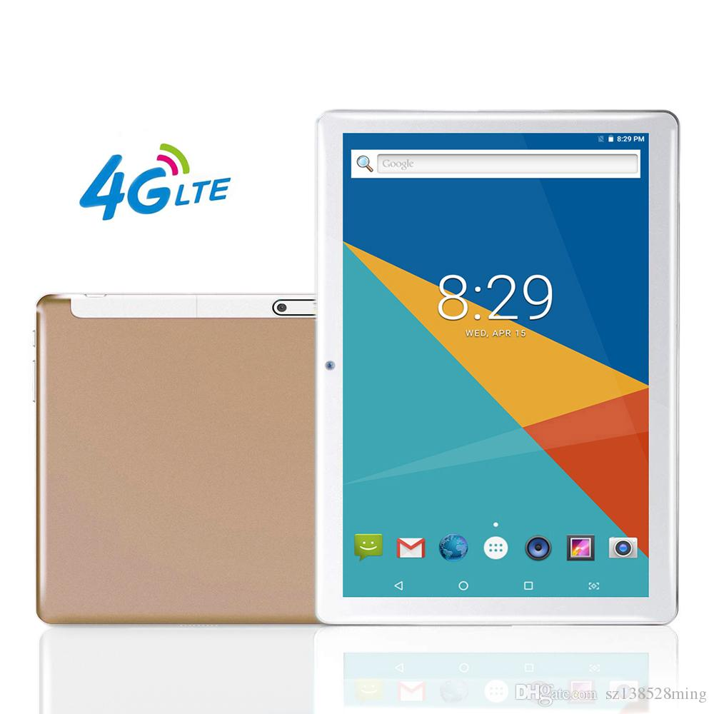 "Android Tablet | 10 Inch Tablets PC ,10.1"" HD,4G LTE, 3G, WiFi, GPS, GSM, Octa Core, 64GB ROM, Dual Sim Card, 1920*1200 IPS, Gold"