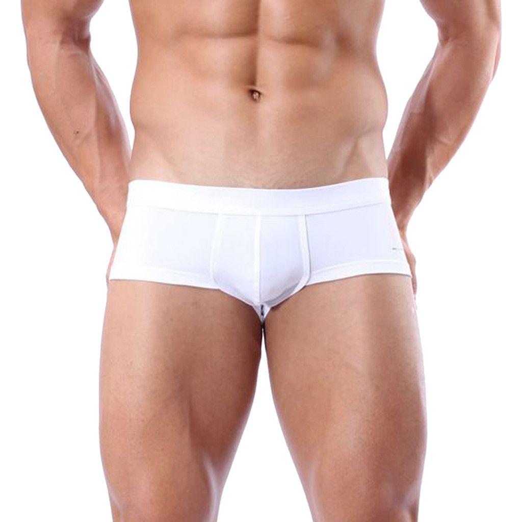 1e7e166b47404d Nova maiô homens sunga Boxer Briefs Natação Swim Shorts Troncos homens  swimwear Calças Branco verão sexy calções de praia XL