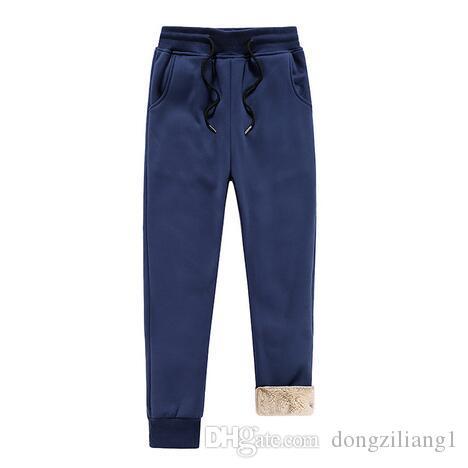 Compre Hombre De Invierno Cálido Pantalones De Felpa Pantalones Con  Cordones Hombres 2019 Pantalones Para Hombre Moda Hombres Pesados pantalon  Hombre ... 762e2165d04d