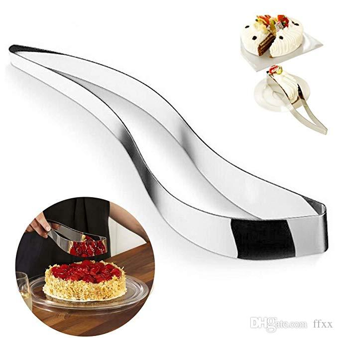 Stainless Steel Cake Slicer,Cake and Pastry Server Perfect Stainless Steel One-piece Cake Cutter Slicer,Enjoy Cutting Your cakes