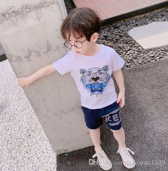 Hot ! 2019 Summer Boys Set clothes Girls Kids T-shirt+pants 2 Pcs casual fashion brand Sports set
