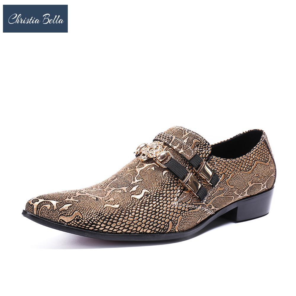 5bef0ca64f Christia Bella Brand Designer Oxfords Wedding Party Nightclub Shoes Bling  Mens Shoes Stage Outfit Celebrage Dress for Men