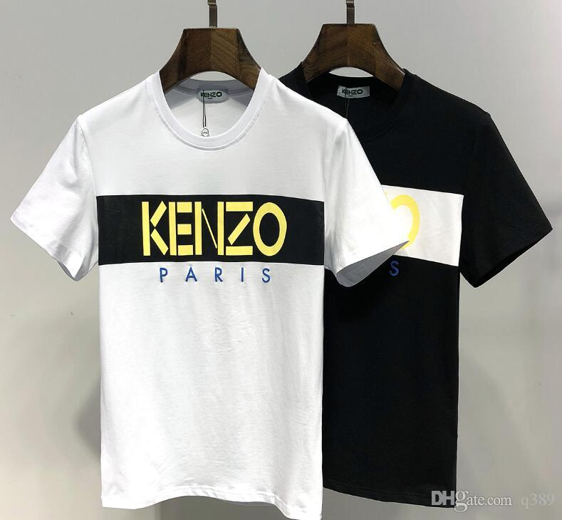 ffcc095d Fashion top brand Kenzo short sleeve animal printed mens womens t shirts  Black tiger mouse embroidery sleev tees shirts tops Unisex