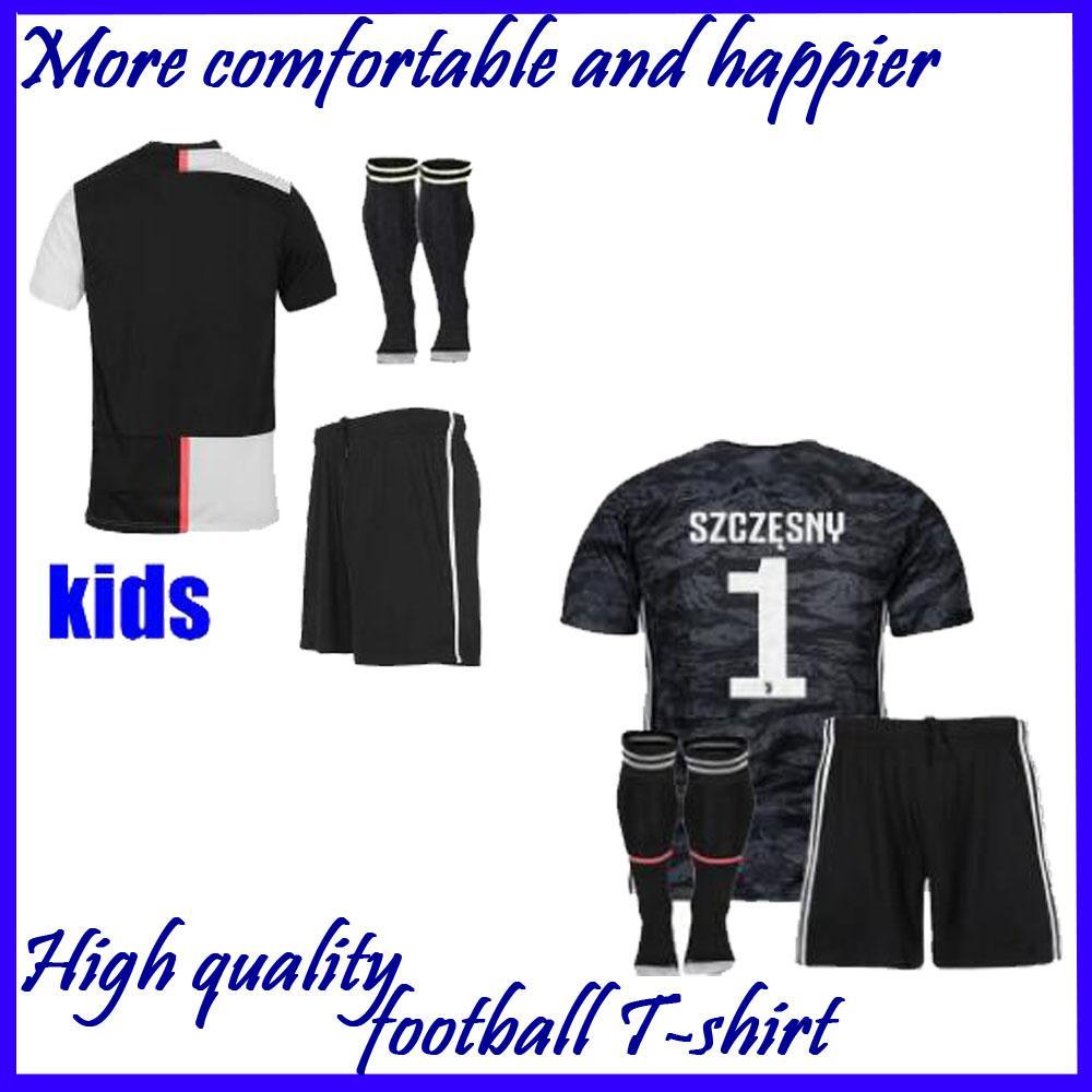 on sale 22c4d a4e26 Kids Juventus 2019 RONALDO champions league Soccer Jersey 2020 goalkeeper  DYBALA Football Shirt Kits Uniforms 18 19 20 JUVE adult SPORTS