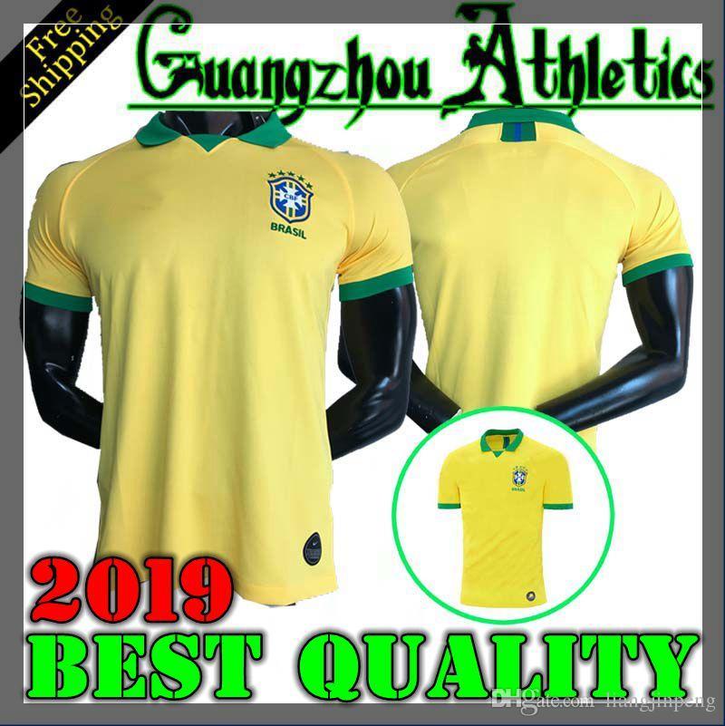 2019 P. CAUTINHO PELE MARCELO RONALDINHO DAVID LUIZ Jersey De Fútbol 2019  2020 Brasil Local Fútbol Jerse Por Liangjinpeng abe57f7a9d2fe