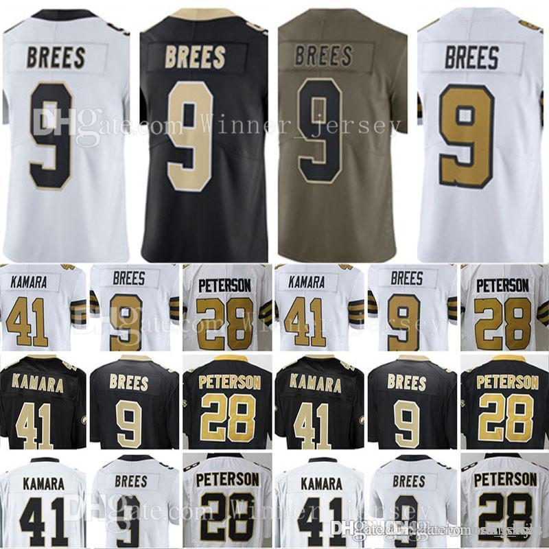 timeless design 65d3c b149a Mens #9 Drew Brees #28 Adrian Peterson Jersey Drew Brees 2017 Salute to  Service Limited Jerseys