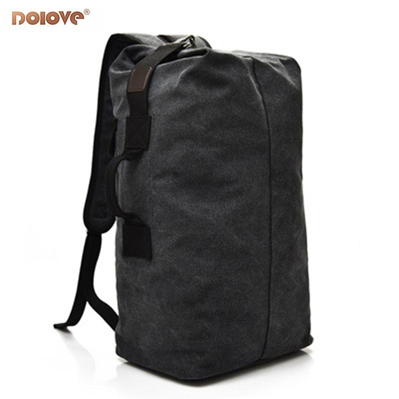 754297bfb4f DOLOVE 2018 Modieuze Heren Rugzak Outdoor Sporttas Canvas Reizen Grote  Capaciteit Canvas Schooltas Black Leather Backpack Backpacks For School  From F6241163 ...