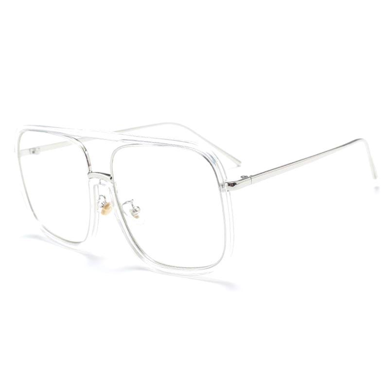 aef4ed21d6 2019 Oversize Square Clear Glasses Gold Eyeglasses Women Men Glasses Frame  For Fashion Show Vintage Trendy Decoration Eyewear S178DF From Taihangshan