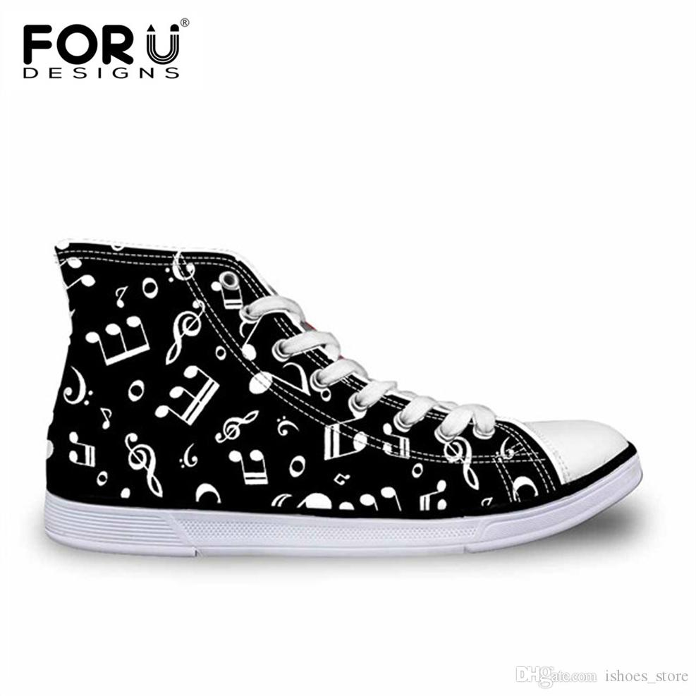 Shoes Men's Vulcanize Shoes Forudesigns Custom Images Or Logo Men High Top Canvas Shoes Classis Lace-up Vulcanized Shoes Fashion Students Boys Flat Shoes