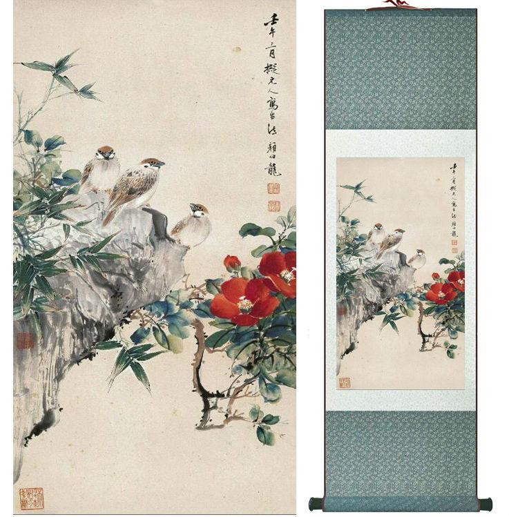 Yanbolong Birds And Flowers Painting Home Office Decoration Painting Living Room Painting No.033104