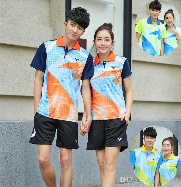 K6 Victor Badminton Suit Sportswear for Men & Women Short Sleeve T-shirt Leisure Running Basketball casual wear Table tennis V5046
