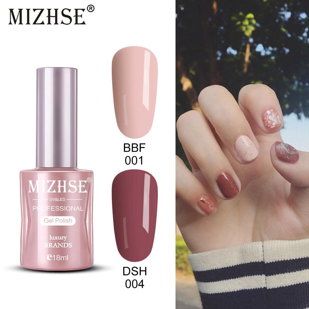 MIZHSE Smalti 18ml Vernis Semi Permanent UV Gel Polish Lacca per nail art ibrida per timbratura Ammollo gel di vernice