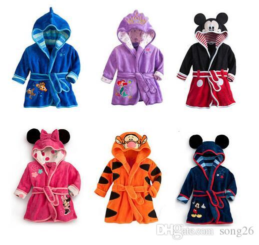 Baby PC 1 boy / girl strange soft velvet robe pajamas coral new kids clothes baby clothing