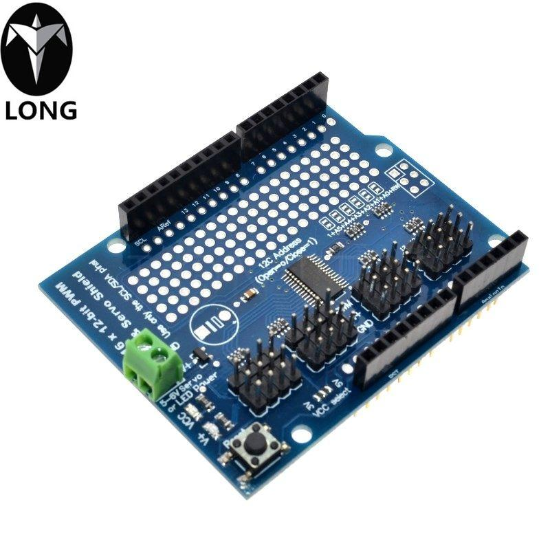 IIC I2C TB6612 Mosfet Stepper Motor PCA9685 PWM Servo Driver Shield V2 For Arduino Robot PWM Uno Mega R3 Replace L293D