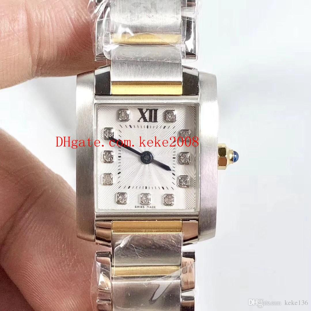 new products 9b7dd 520cf Excellent top quality Wristwatches WE110004 25.35 x 20.3mm Diamond Dial 18K  Gold & Steel VK Quartz Chronograph Ladies Women's watch Watches