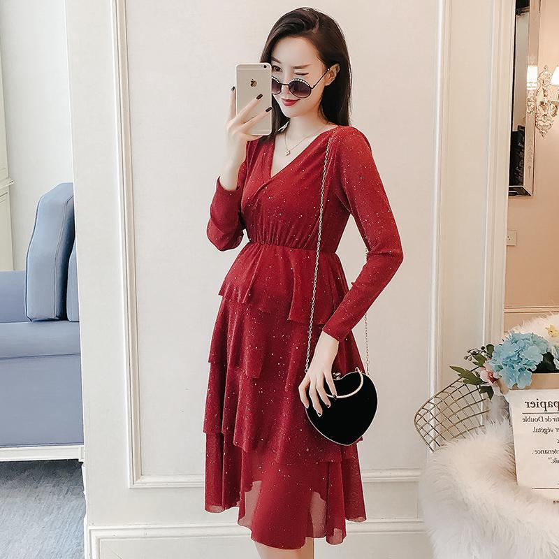 37b76775c8202 Satın Al 2019 Yeni Gelmesi Bahar Hamile Elbisesi Kadın Kısa Büyük Boy  Elbiseler Hamile Kadın Casual Hamile Giyim MD 00615, $32.82 | DHgate.Com'da