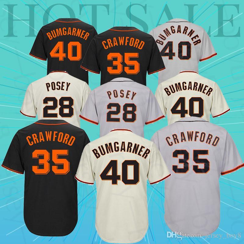 41665e081 Baseball Jersey Francisco Giants Jersey35 Brandon Crawford 40 Madison  Bumgarner 35Brandon Crawford 28 Buster Posey Baseball Jerseys Online with   37.98 Piece ...