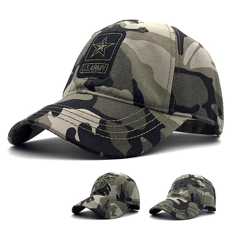 aac4b8e2dab7b US Army Camo Baseball Cap Fishing Caps Men Outdoor Hunting Camouflage Navy  Seal Hat Airsoft Tactical Hiking Snapback Hats