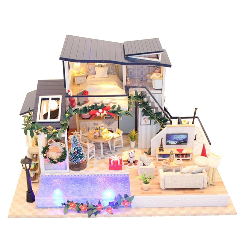 1/24 Dollhouse Miniatures Diorama DIY Accessories Kit Romantic Mermaid  Tribe House Kids Children Birthday Gift