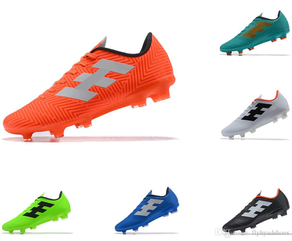 6679206bfe5 Designer Shoes World Cup Top Quality Messi 18.4 FG Football Shoes ...