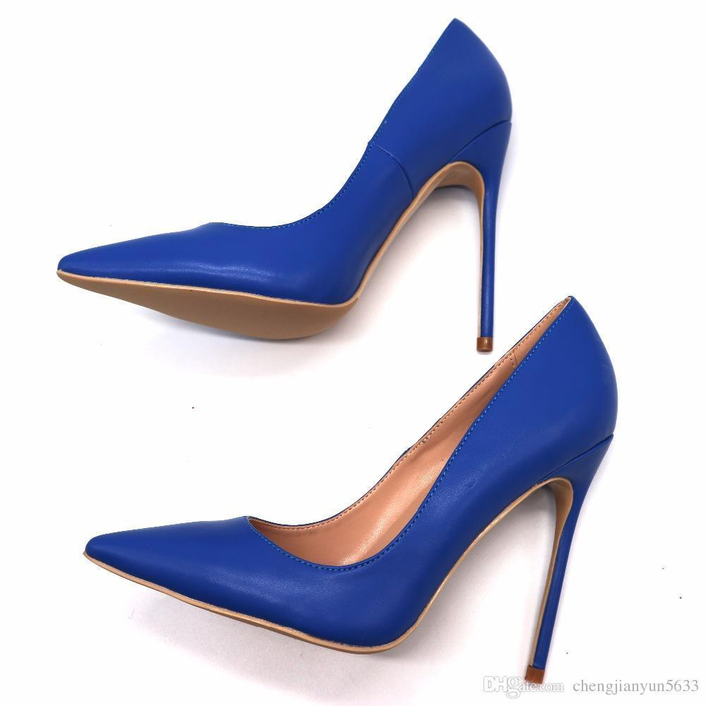 Poined Sexy2019 Toes Femmes Bleu Acheter 6f7gby Royal Cuir Femme Mat Nw8nXPk0O
