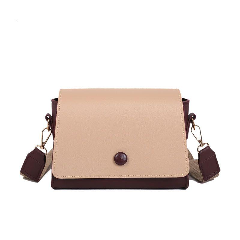 e99e7dcf7265 Hot Sale New Women PU Leather Casual Mini Shoulder Bag Girls Wide Shoulder  Strap Fashion Lady Simple Crossbody Messenger Bag Pink Handbags Branded  Handbags ...