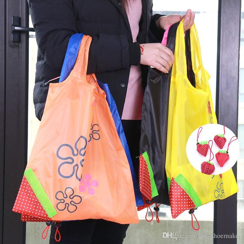 ff1a51a10 Strawberry Foldable Shopping Bags Creative Environmental Storage Bag Handbag  Reusable Folding Grocery Nylon Large Bag  90009 Non Woven Bags Wine Bags  From ...
